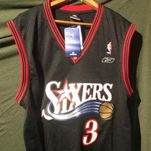 Allen Iverson Reebok Jumpman jersey size large